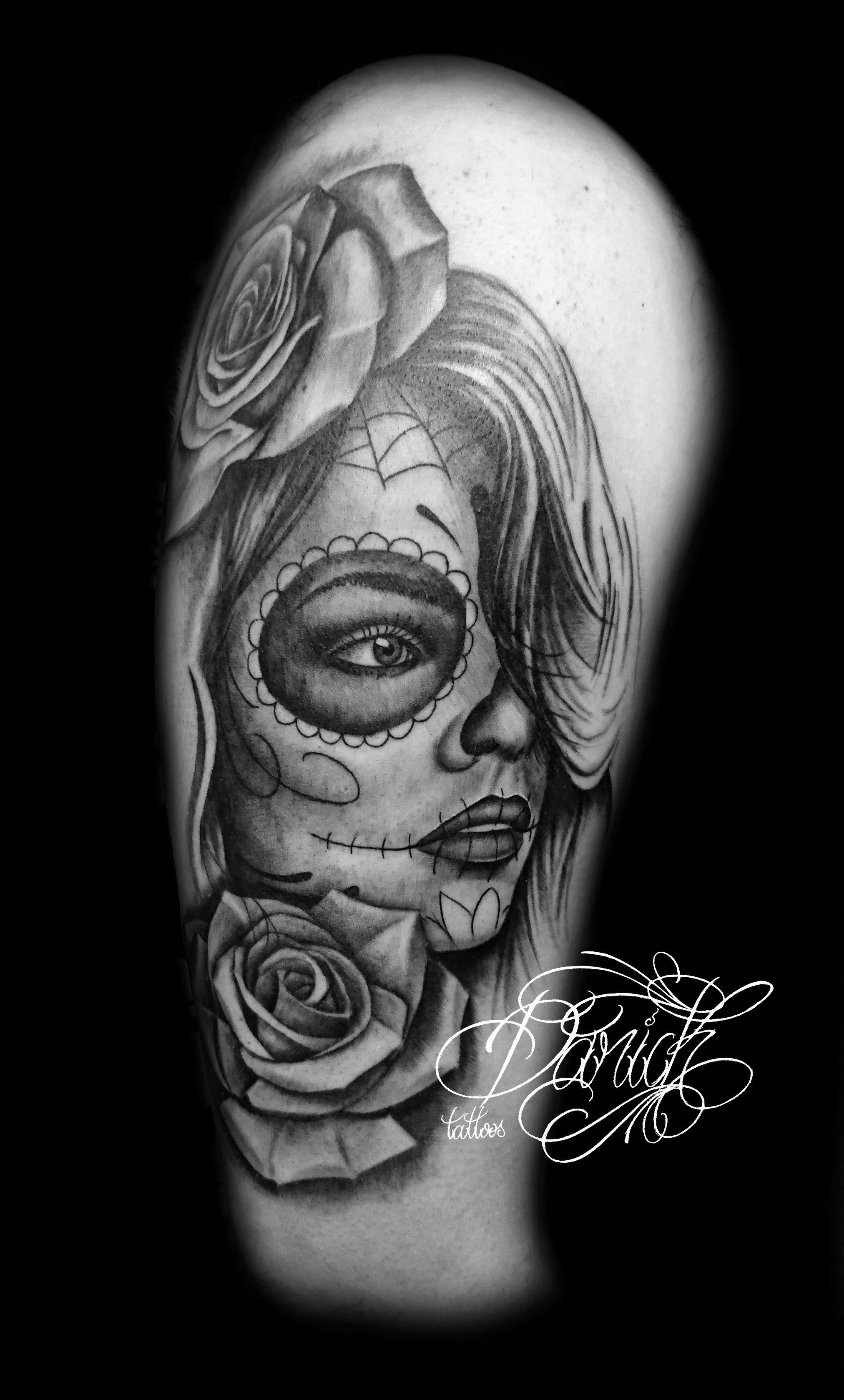 santa muerte catrina tatoueur paris darick tattoos. Black Bedroom Furniture Sets. Home Design Ideas