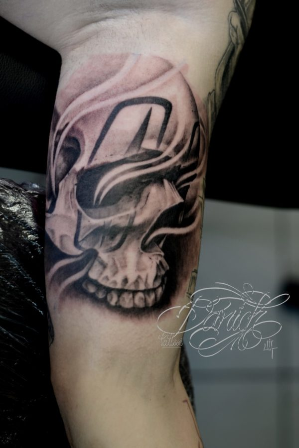 chicano skull daricktattoos